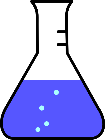 Beaker clipart bubble. Black flask with bubbles