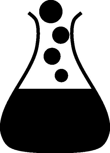 Black fask clip art. Beaker clipart bubble