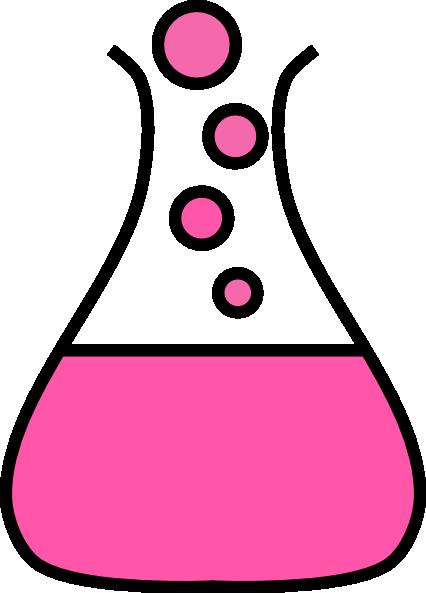 Beaker clipart bubble. Pink flask clip art