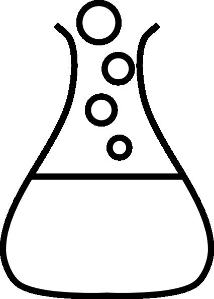 White flask clip art. Beaker clipart bubble