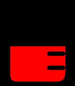 Red at clker com. Beaker clipart clip art