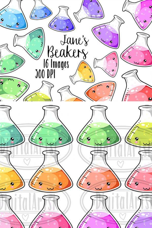 This clip art will. Beaker clipart cute