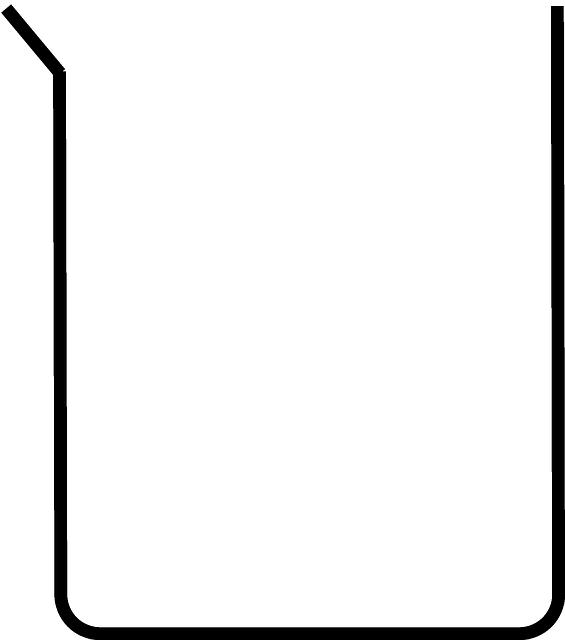 Beaker clipart diagram. Cartoon drawing