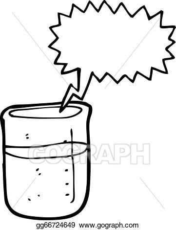 Vector art cartoon chemical. Beaker clipart draw