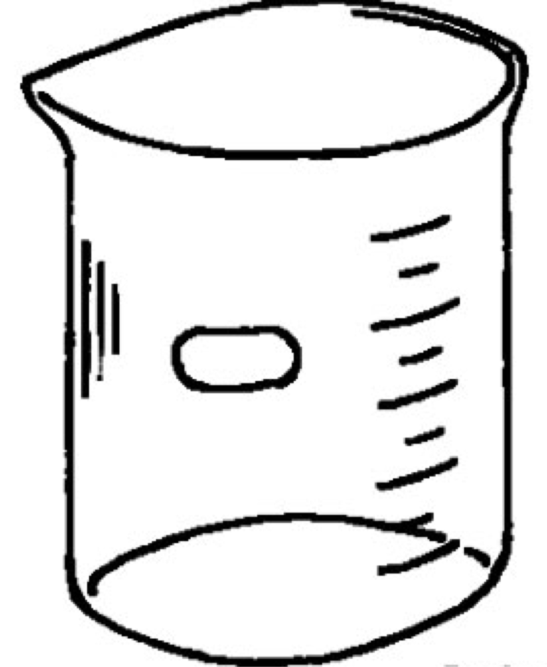 Beaker clipart draw. Graduated cylinder drawing at