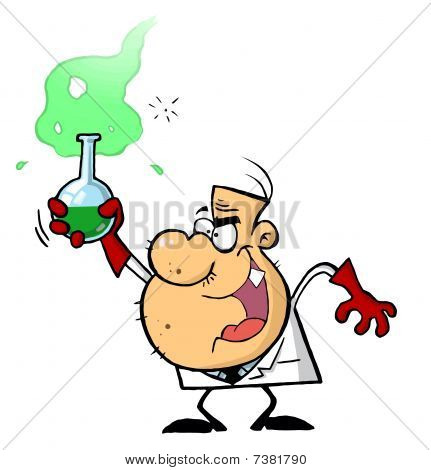Mad scientist stock photos. Beaker clipart explosion