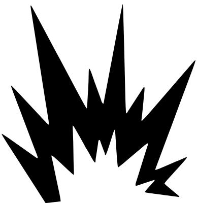 Exploding cross finger tattoos. Beaker clipart explosion