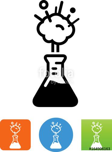 Exploding icon illustration stock. Beaker clipart explosion