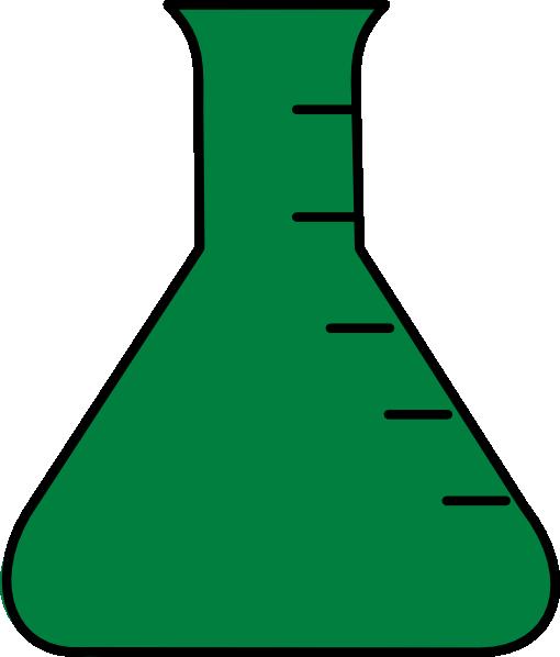 Flask clip art at. Beaker clipart green