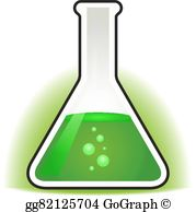 Beaker clipart green. Vector with chemical portion