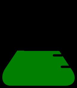 Pale flask clip art. Beaker clipart green