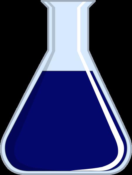 Beaker clipart lab beaker. Blue clip art at