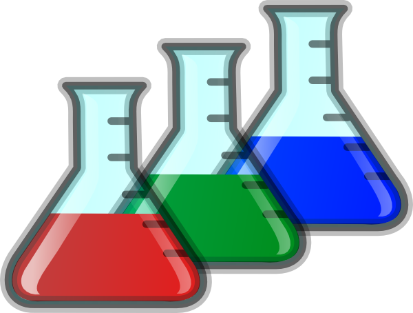 Colored beakers clip art. Beaker clipart lab beaker
