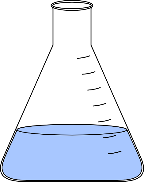 Beaker clipart liquid clipart. Lab flask with clip