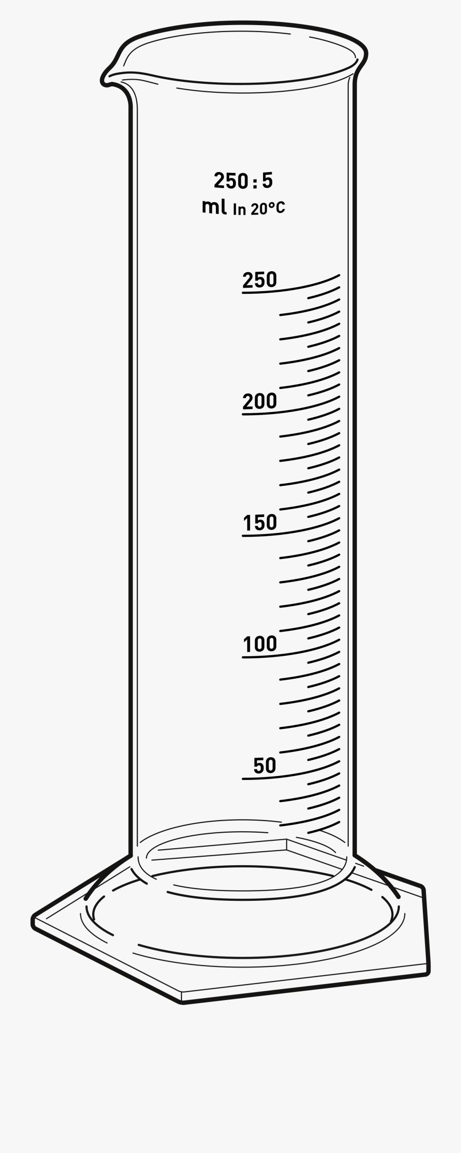 Beaker clipart measurement. Drawing ml line measuring