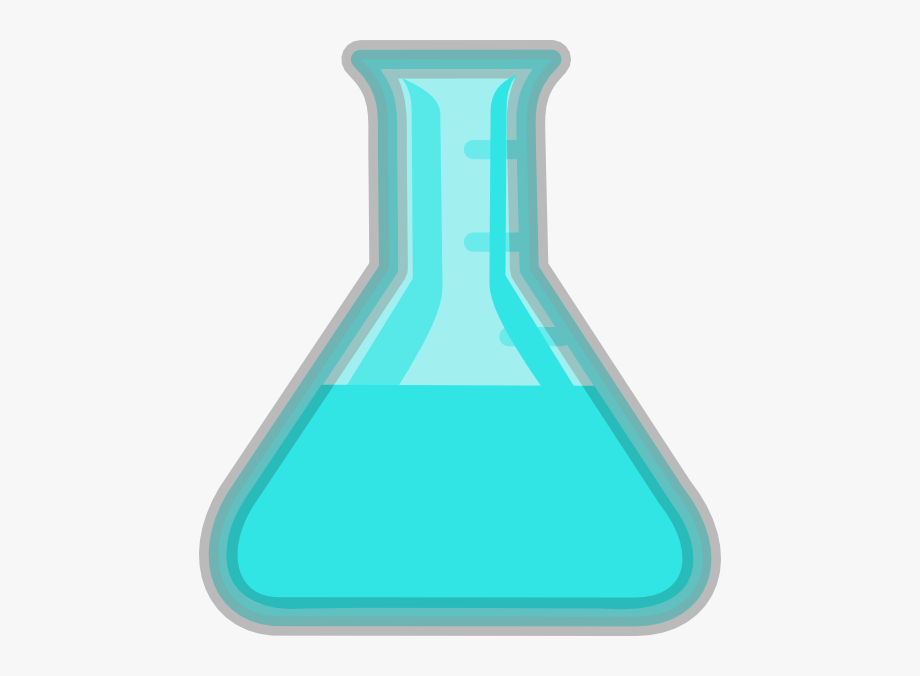 Light blue flask lab. Beaker clipart purple