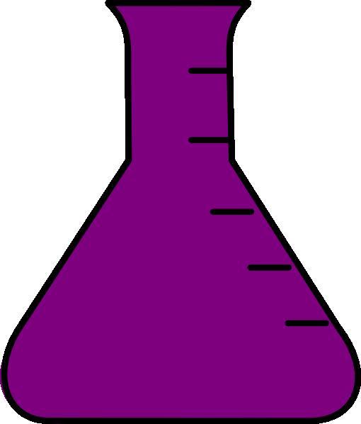 Flask clip art at. Beaker clipart purple