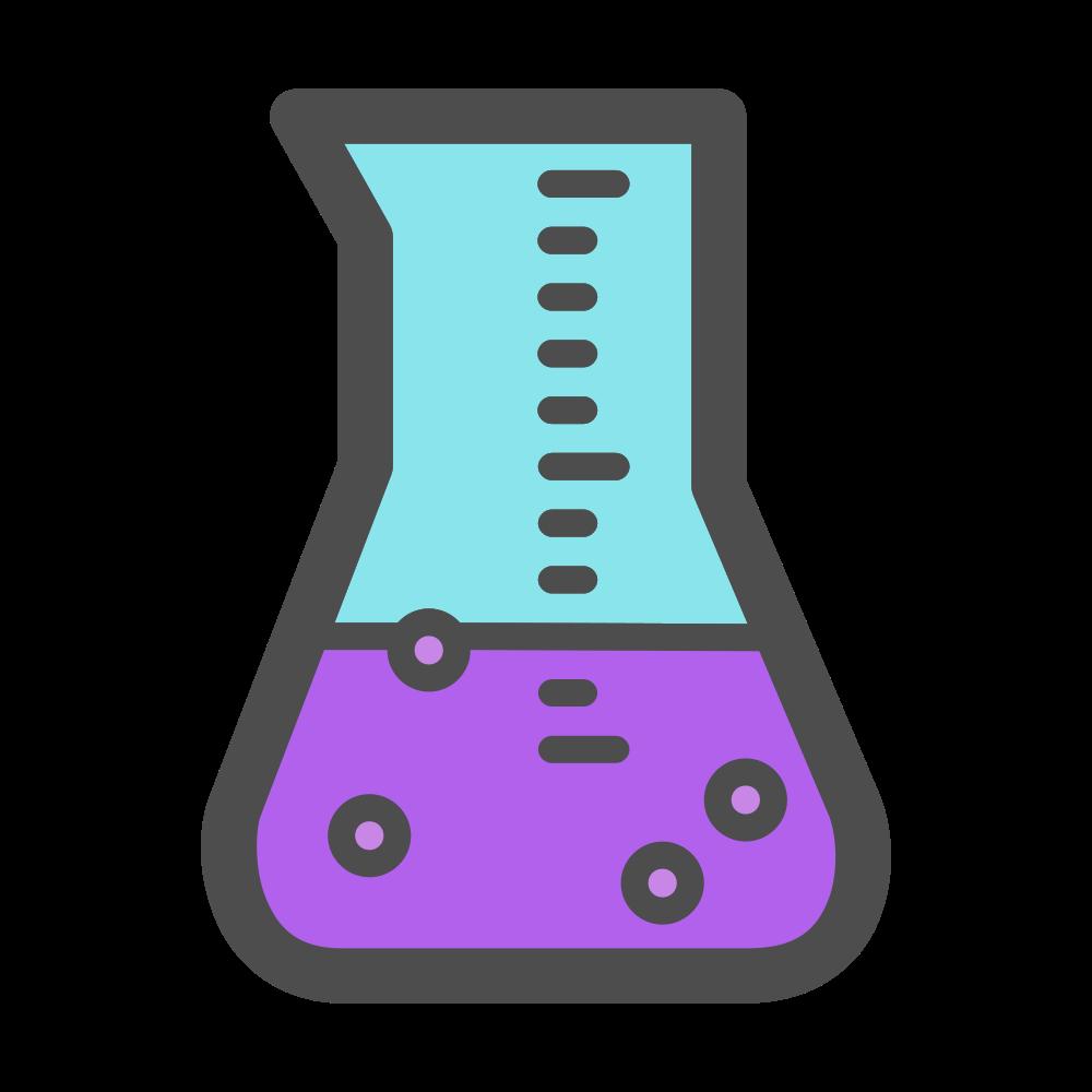Onlinelabels clip art science. Beaker clipart purple