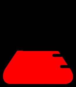 beaker clipart red