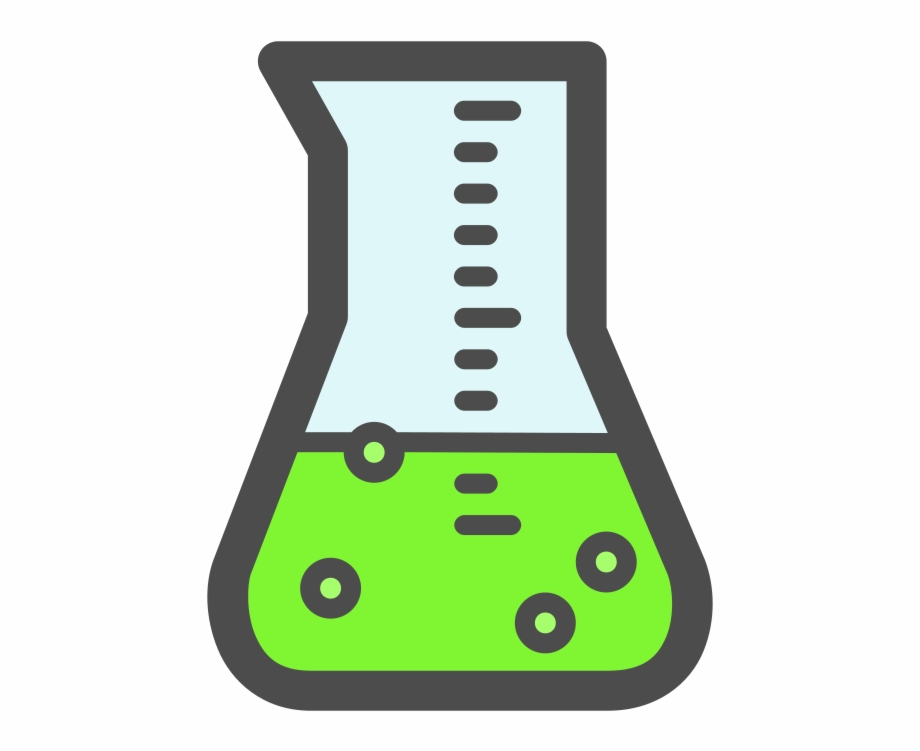 Green png download round. Beaker clipart science