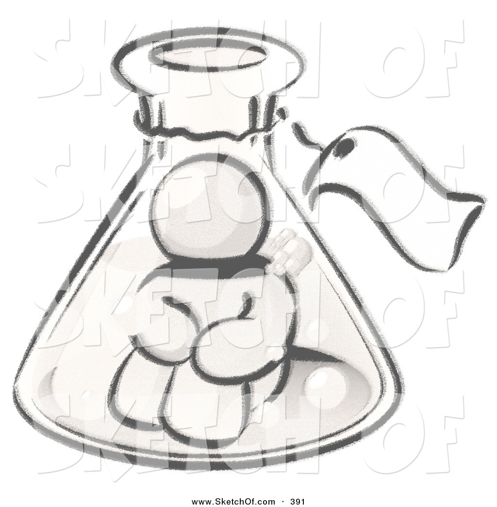 Beaker clipart sketch. Drawing of a sketched