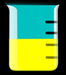 Yellow clip art at. Beaker clipart small beaker
