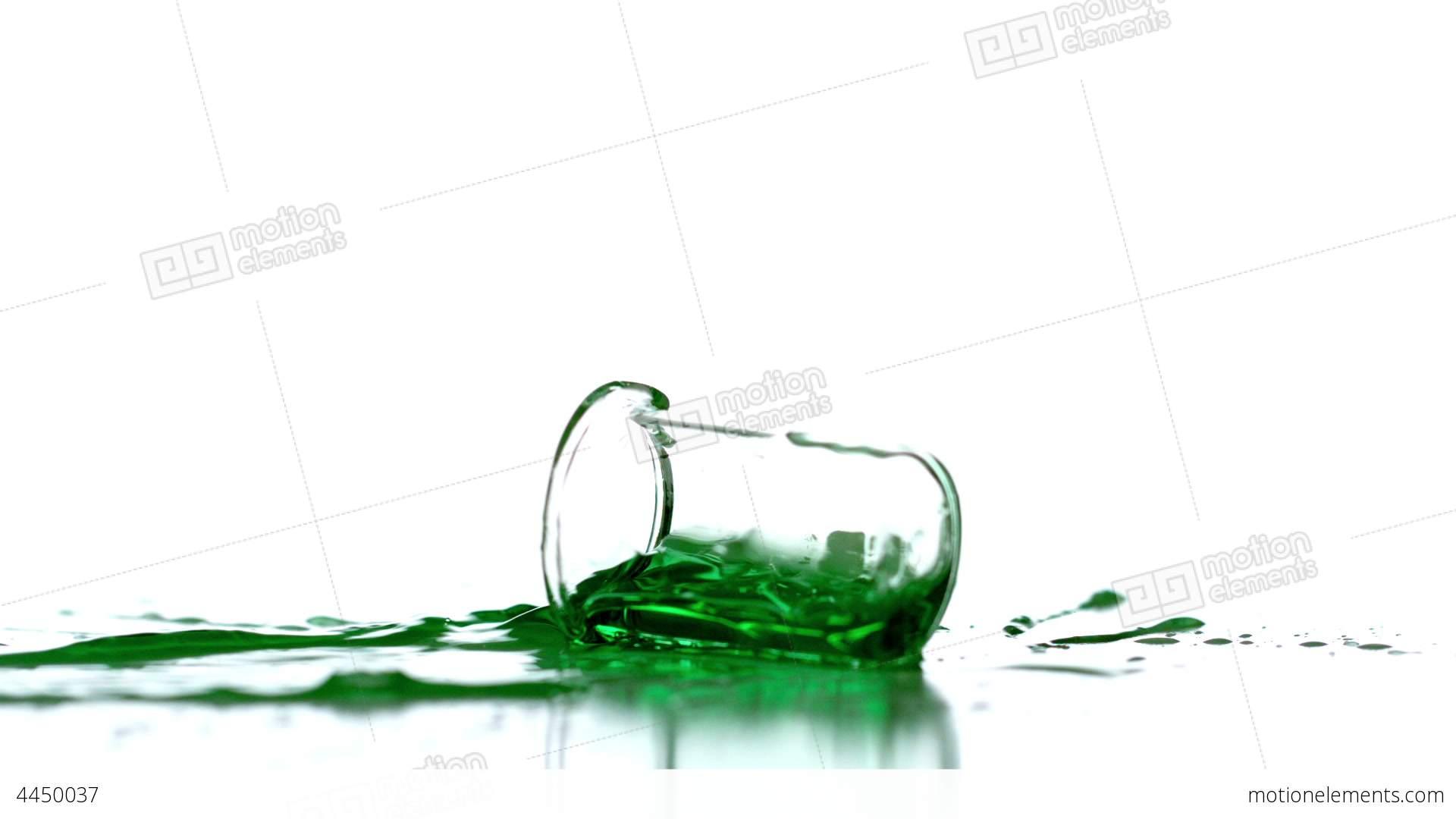 Beaker clipart spilled. Falling and spilling green