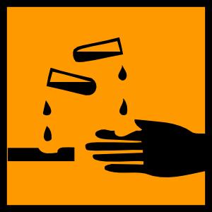 Acidic spill clip art. Beaker clipart spilled