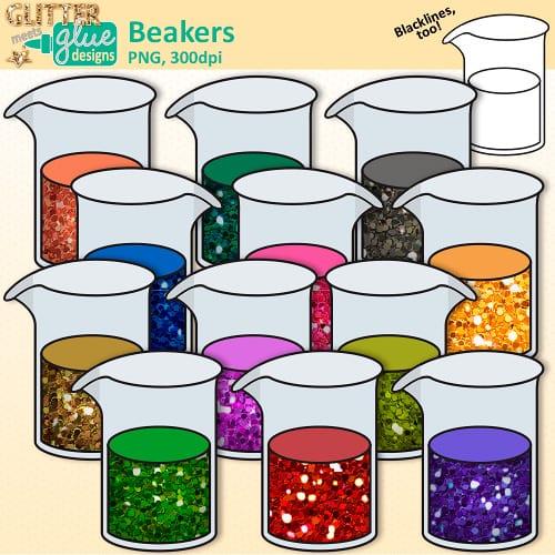 Beaker clipart teacher. Clip art glitter meets