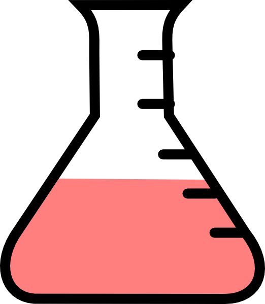 Image group red flask. Sick clipart pale
