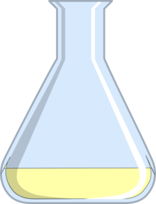 Flash yellow flask small. Chemistry clipart transparent