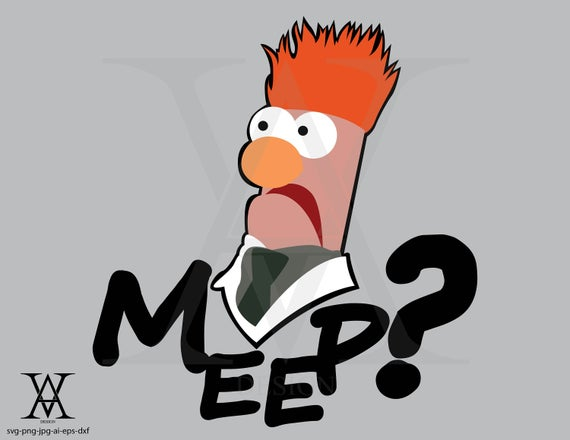 Beaker clipart vector. The muppets instant download