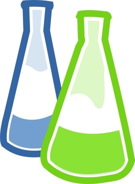 Beaker clipart vector. Flask for free download