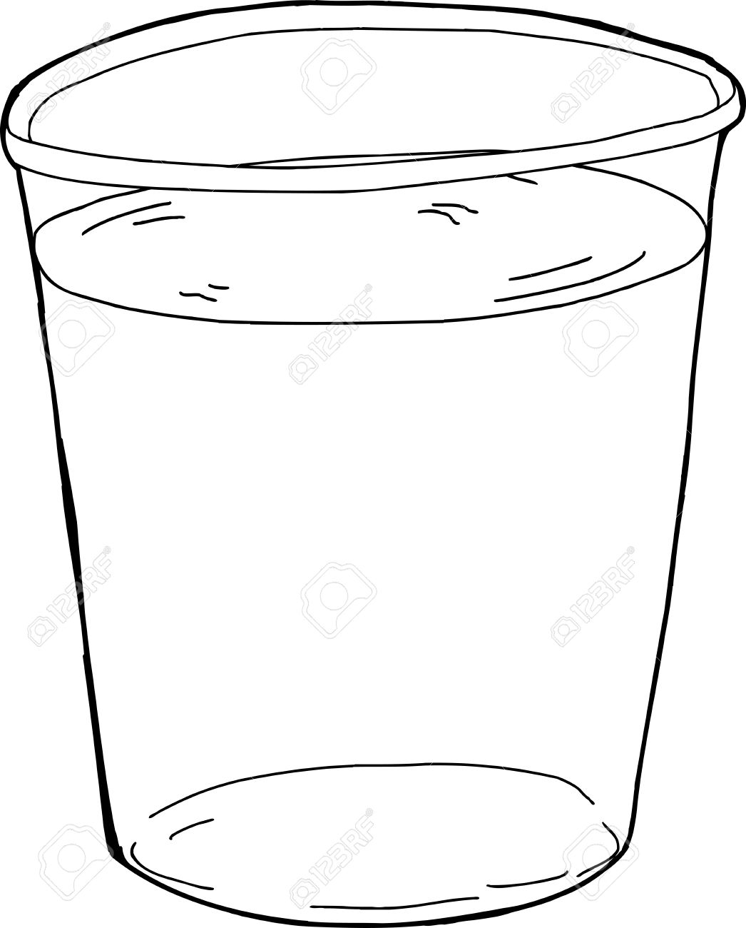 Cup of at getdrawings. Beaker clipart water drawing