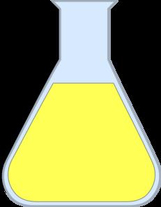 Beaker clipart yellow. Chemistry flash clip art