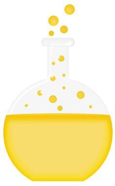 Clip art vector online. Beaker clipart yellow