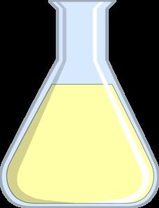 Beaker clipart yellow. Chemistry clip art at