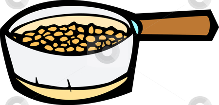 Crock beans . Bean clipart baked bean