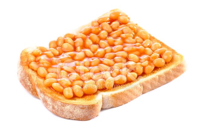 Bean clipart baked bean. Beans on toast stock