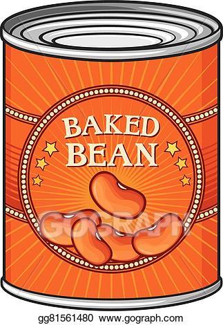 Beans clipart baked bean. Vector stock tin of