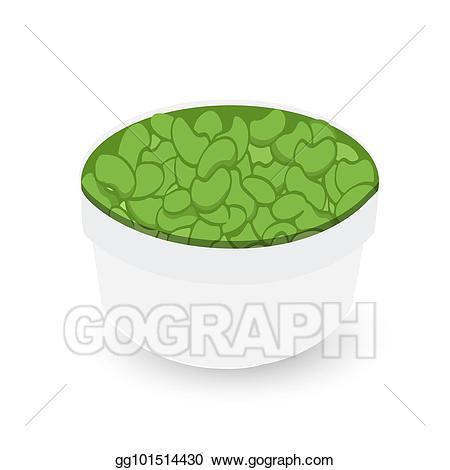 Drawing green beans on. Bean clipart bowl bean