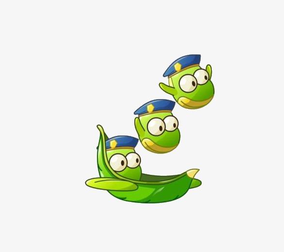 Green cartoon png image. Beans clipart broad bean