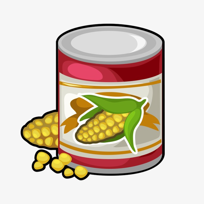 Corn can baogu png. Beans clipart canned