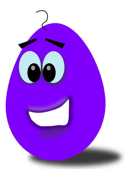 Purple egg clip art. Bean clipart comic
