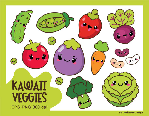 Bean clipart cute. Kawaii vegetables veggies healthy