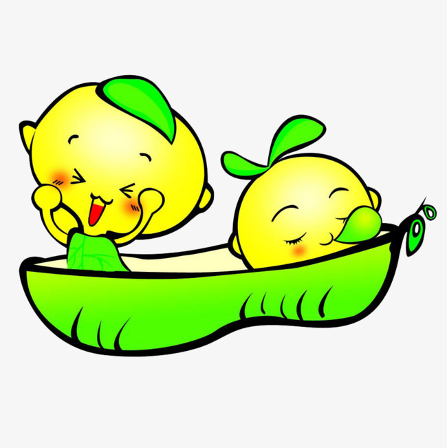 Bean clipart cute. Cartoon baby soybean peas