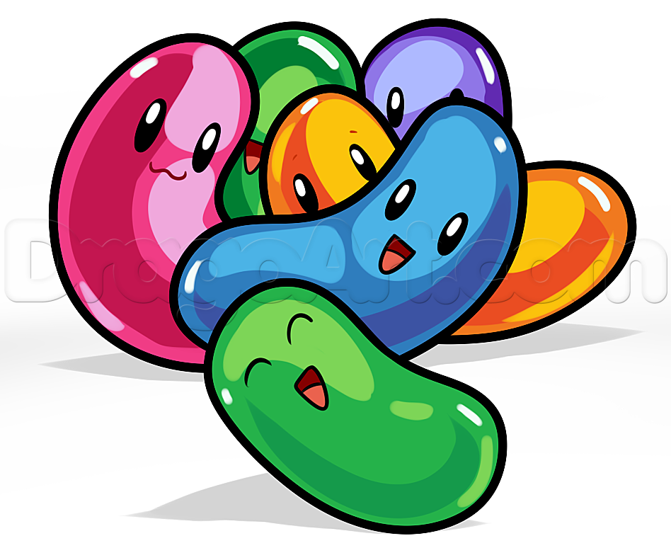 Beans clipart cute. Jelly free download best