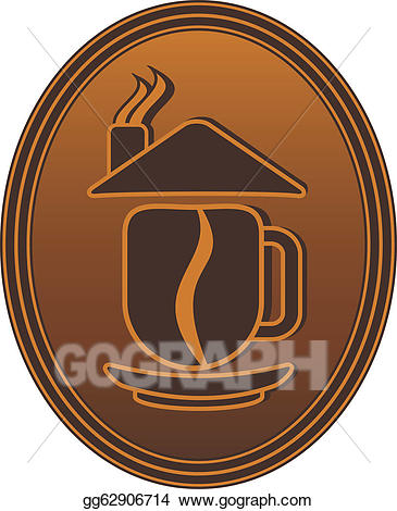 Bean clipart drawing. Concept coffee cup and