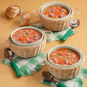 Quick ham and soup. Bean clipart dry bean