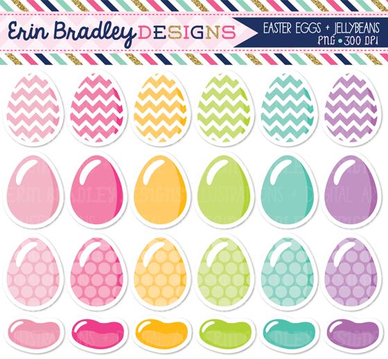 Erin bradley designs eggs. Bean clipart easter